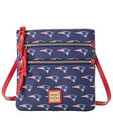 New England Patriots Saffiano Triple Zip Crossbody