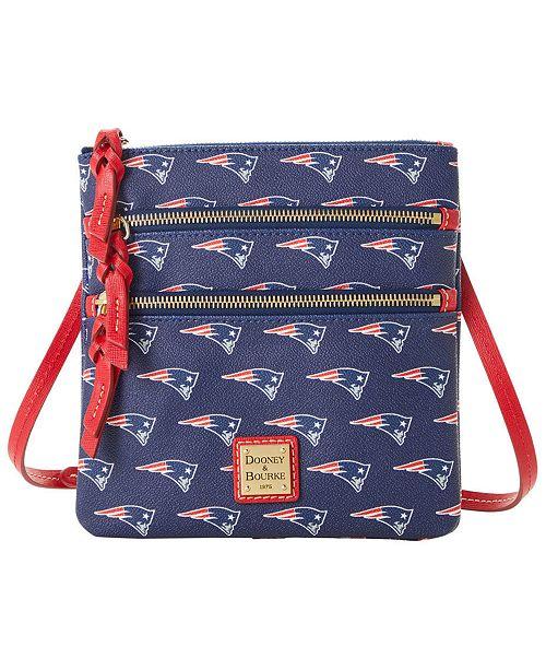 Dooney & Bourke New England Patriots Saffiano Triple Zip Crossbody
