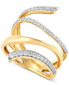 Certified Diamond Multi-Row Wrap Statement Ring (1/3 ct. t.w.) in 14k Gold