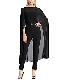 Cape Georgette Jumpsuit