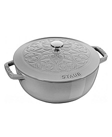 Stuab Cast Iron 3.75-Qt. Essential French Oven Lilly Lid