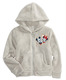 Little Girls Mickey & Minnie Mouse Woobie Hoodie