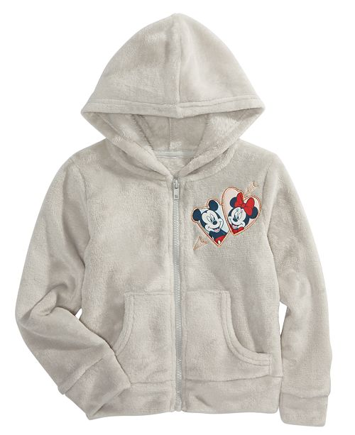 Disney Little Girls Mickey & Minnie Mouse Woobie Hoodie
