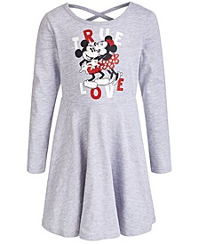 Little Girls Mickey & Minnie Mouse Skater Dress