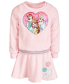 Little Girls 2-Pc. Princess Sweatshirt & Skirt Set