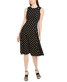 Polka-Dot Fit & Flare Dress