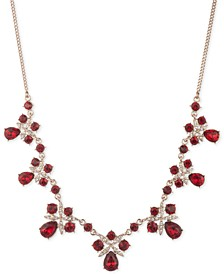 """Crystal Frontal Necklace, 16"""" + 3"""" extender"""