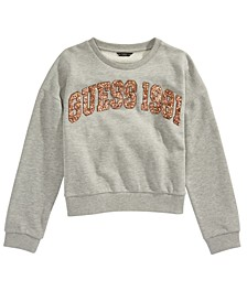 Big Girls Varsity Glitter Logo Sweatshirt