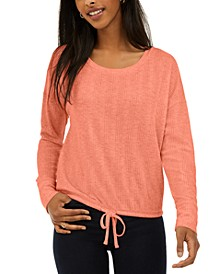 Juniors' Drawstring-Hem Top