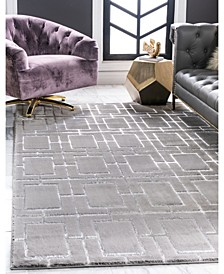 Glam Mmg002 Gray/Silver 4' x 6' Area Rug