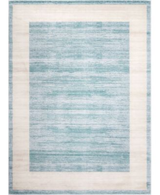 Yorkville Uptown Jzu007 Turquoise 9' x 12' Area Rug