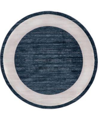Yorkville Uptown Jzu007 Navy Blue 8' x 8' Round Rug