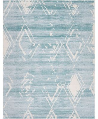 Carnegie Hill Uptown Jzu006 Turquoise 8' x 10' Area Rug