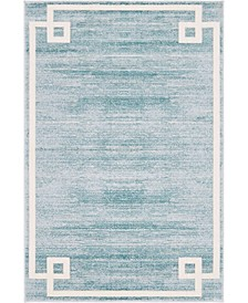 Lenox Hill Uptown Jzu005 Turquoise 4' x 6' Area Rug