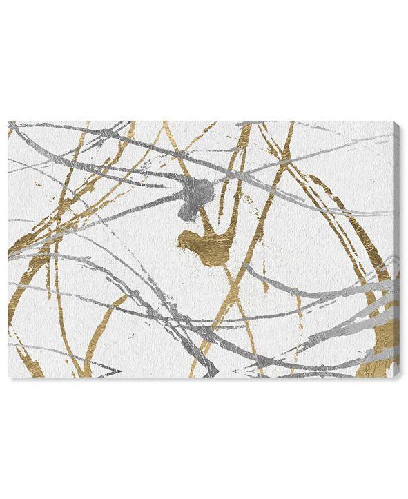 """Oliver Gal Precious Metals Canvas Art, 36"""" x 24"""""""