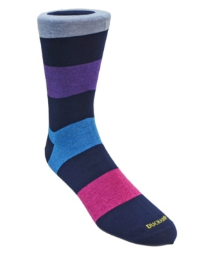 Men's Large Stripe Dress Sock