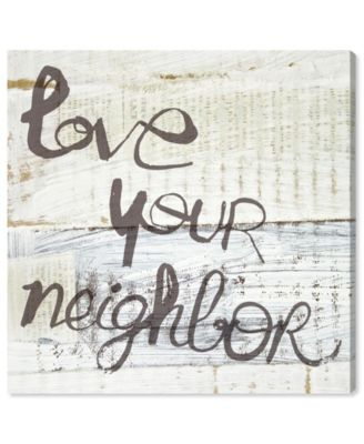 Love Your Neighbor Canvas Art, 36