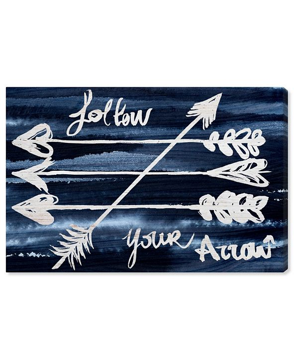 "Oliver Gal Follow Your Arrow Canvas Art, 36"" x 24"""
