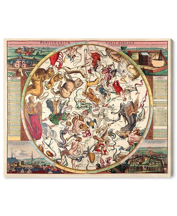 "Oliver Gal Horoscope Boreali Canvas Art, 36"" x 30"""