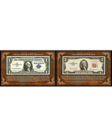 Scarce Currency - 1957 1 Silver Certificate and 2 Red Seal Note