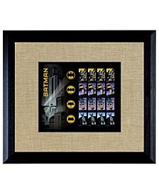 """Batman U.S. Stamp Sheet in Wood Frame, 16"""" X 14"""""""