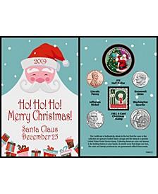 Santa Year To Remember 2019 Coin Christmas Card