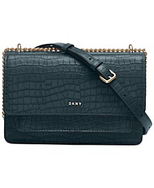 Bryant Croco Leather Chain Flap Crossbody, Created For Macy's