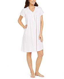 Silky Knit Embroidered Nightgown