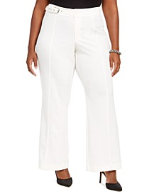 INC Plus Size Side-Belt Pants, Created For Macy's