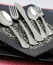 South Bay 65 Piece Flatware Set with Wire Caddy