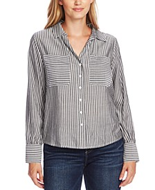 Striped Button-Down Top