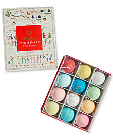 Musee 12-Pc. 12 Days Of Christmas Bath Balm Gift Set