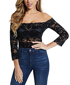 Kristy Off-The-Shoulder Lace Top