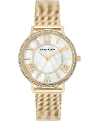 Women's Gold-Tone Stainless Steel Mesh Bracelet Watch 34mm