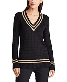 Petite Metallic Cricket Sweater