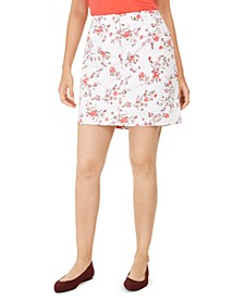Petite Sharon Floral-Print Skort, Created for Macy's