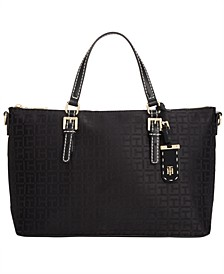 Julia Monogram Jacquard Shopper