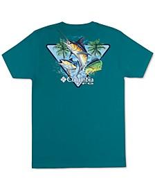 Men's Huffle PFG Fish Triangle Logo Graphic T-Shirt