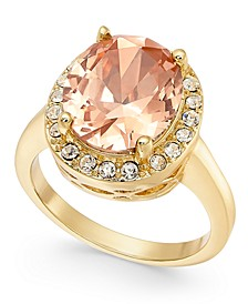 Gold-Tone Crystal Oval Halo Ring, Created for Macy's