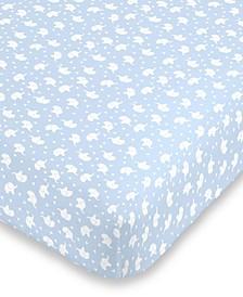 Elephant Print Mini Crib Sheet