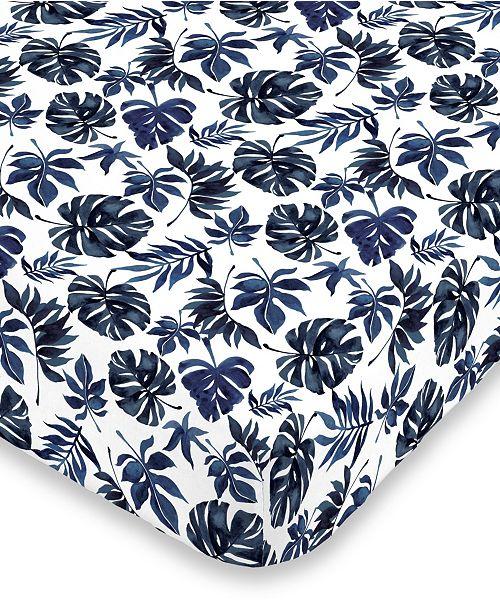 NoJo Palm Leaf Mini Crib Sheet