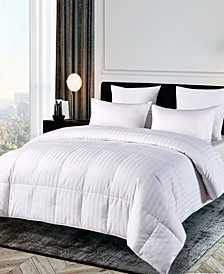 500 Thread Count Damask Stripe Duraloft® Down Alternative King Comforter