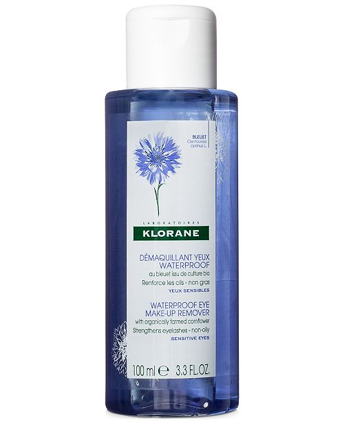 Klorane Waterproof Eye Make-Up Remover With Organically Farmed Cornflower, 3.3-oz.
