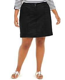 Plus Size Knit-Waistband Skort, Created for Macy's