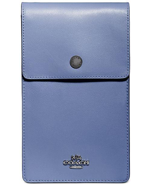 COACH Snap Phone Leather Crossbody