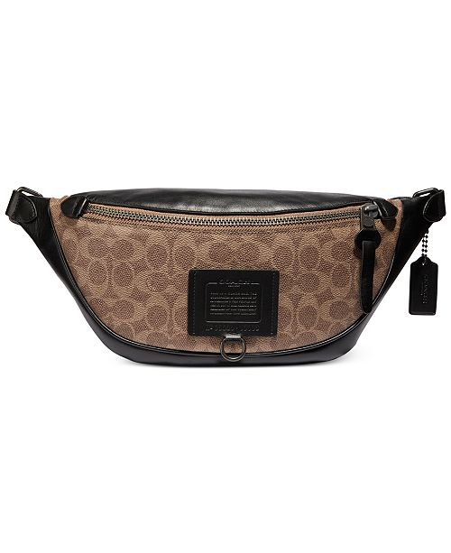 COACH Men's Rivington Signature Belt Bag