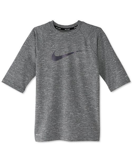 Nike Big Boys Heathered Dri-FIT Rash Guard