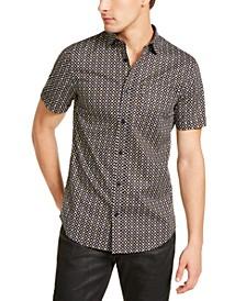 Men's Slim-Fit Stretch Logo-Print Shirt