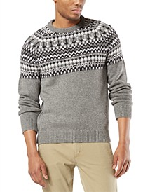 Men's Alpha Chunky Fair Isle Sweater, Created For Macy's