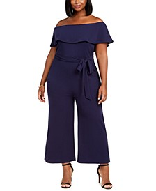 Trendy Plus Size Off-Shoulder Jumpsuit